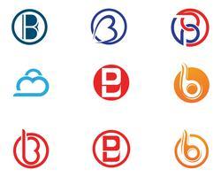 B lettre icône Design Vector Illustration.