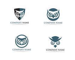 Illustrateur de vecteur hibou logo oiseau