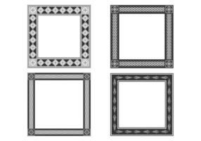 Decorative Bold Frames Vector