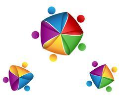 Logo Group Business sur l'étoile vecteur