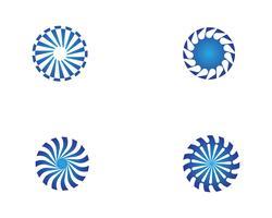 modèle de logo et de symboles vortex vecteur