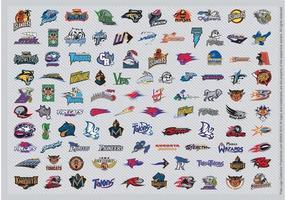 Afl football logos vecteur