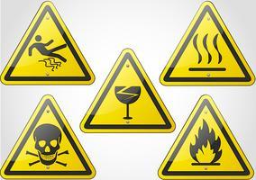 ensemble de signes d'avertissement