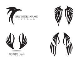 Aigle aile falcon logo et symboles template vecteur