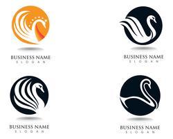 Swan logo Template vecteur