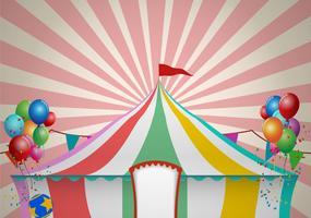 Célébration de la tente de cirque vecteur