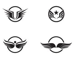 Flacon wing template icons vector design