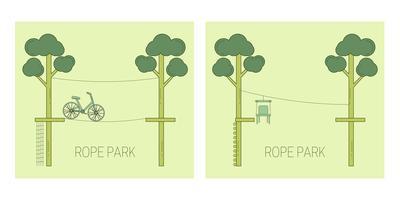 Piste de parc de corde vecteur