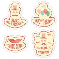 ensemble d'autocollants de carnaval