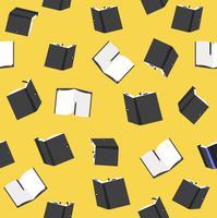 modèle sans couture de livres noir vecteur