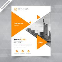 Brochure, affiche, flyer, brochure, magazine, dessin de couverture avec un espace pour l'arrière-plan photo, dessin triangulaire. modèle d'illustration vectorielle au format A4
