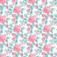 Aquarelle Floral Seamless Pattern vecteur