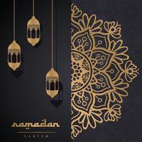 conception de vecteur ramadan kareem