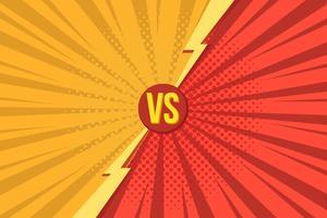 Les lettres Versus VS se battent dans le style de bande dessinée rétro pop art avec demi-teintes. Illustration vectorielle