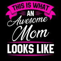 Citation génial maman vecteur