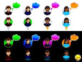Jeu d'icônes de support en ligne
