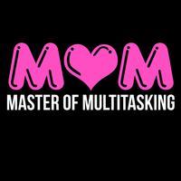 Maman Maître du multitâche vecteur