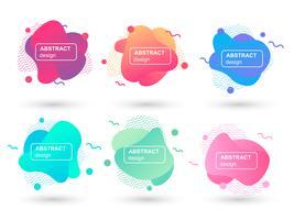 Ensemble d'éléments graphiques modernes abstraits formes liquides. Formes et lignes de design fluides. Bannières abstraites dégradés. Modèle pour la conception d'un logo, d'un dépliant ou d'une présentation. Illustration vectorielle