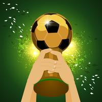 champion du monde de football vecteur