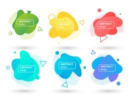 Ensemble d'éléments graphiques modernes abstraits formes liquides. Formes et lignes de design fluides. Bannières abstraites dégradés. Modèle pour la conception d'un logo, d'un dépliant ou d'une présentation. Illustration vectorielle vecteur