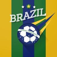 signe de ballon de football du Brésil vecteur