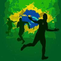silhouettes de football brésil vecteur