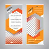Modèle de conception de support de bannière orange