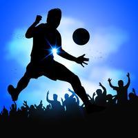 Un footballeur célèbre son but vecteur