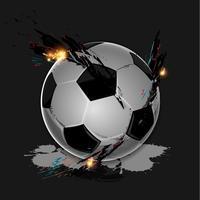 Ballon de foot splash coloré vecteur