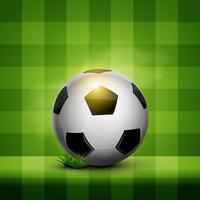 ballon de foot sur papier peint vecteur