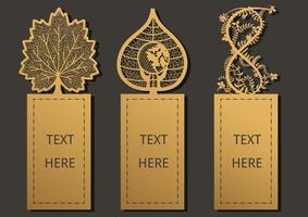 Modèle de feuilles de signet vecteur