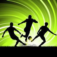 Scramble joueur de foot vecteur