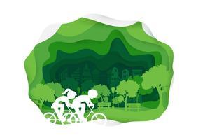 Style de papier de vélo vecteur