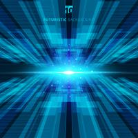Concept numérique abstrait bleu technologie virtuelle futuriste fond avec un espace pour votre texte