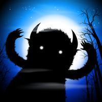 Étreint monstre noir vecteur