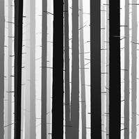 silhouettes d'arbres. ombre arbre forêt. vecteur détaillé illust
