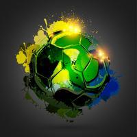 explosion de ballon de football noir vecteur
