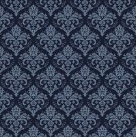 élégant fond bleu damassé sans soudure vecteur