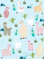 Ensemble de cliparts de lama et de cactus, aucun ensemble graphique de drama Llamas.