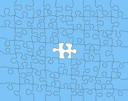 Vecteur abstrait coloré fabriqué à partir de pièce de puzzle blanc