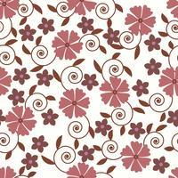 Modèle sans couture de vecteur avec fond floral romantique. Subtil