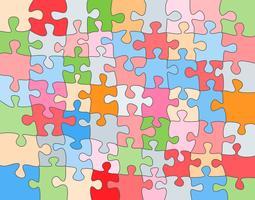 Vecteur abstrait coloré fait de pièces de puzzle blanc et placez votre contenu.