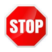 Icône de signe d'arrêt Notifications qui ne font rien. vecteur
