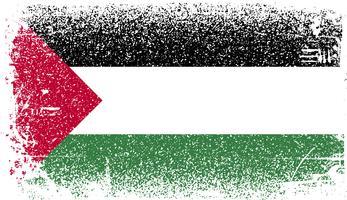 drapeau grunge de palestine vecteur