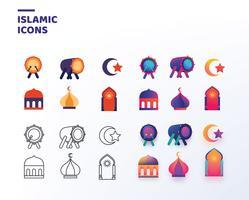 Pack de vecteur d'icônes islamiques