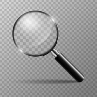 Concept de loupe pour trouver des personnes qui travaillent pour l'organisation vecteur