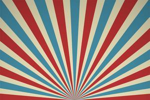 Rayons de lumière rétro Affiche de performance de cirque et performances passées. vecteur