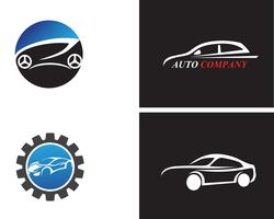 Icône de voiture auto logo template vector