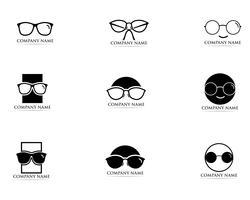 Lunettes Logo Design vectoriel