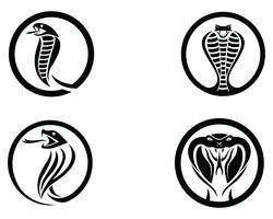 élément de conception de logo de serpent vipère. icône de serpent de danger. symbole de vipère vecteur